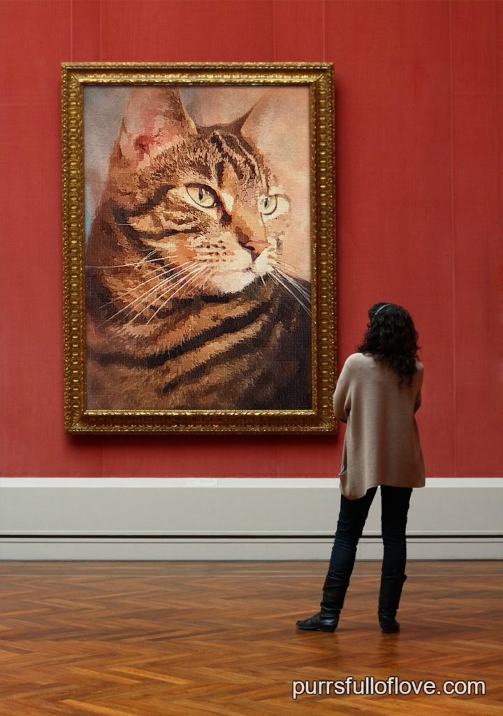 caturday art at the art gallery